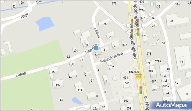 Sopot, Leśna, 5a, mapa Sopotu