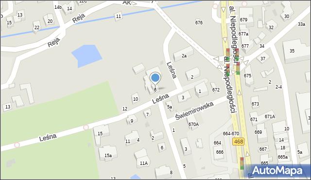 Sopot, Leśna, 6, mapa Sopotu