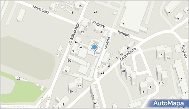 Sosnowiec, Leszno, 4, mapa Sosnowca