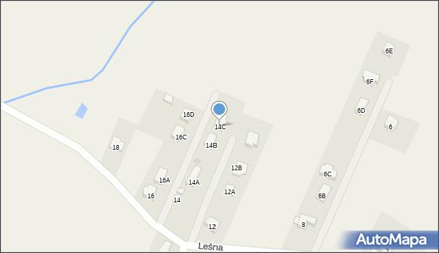 Sucha Górna, Leśna, 14C, mapa Sucha Górna
