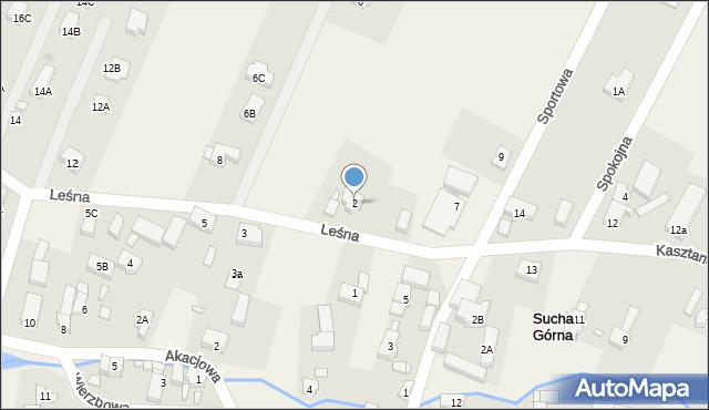Sucha Górna, Leśna, 2, mapa Sucha Górna