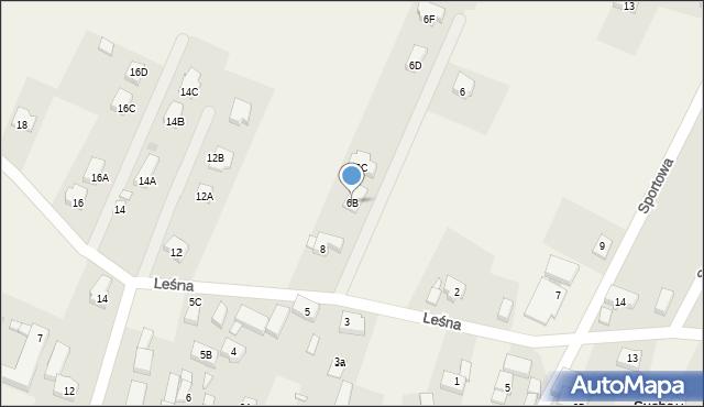 Sucha Górna, Leśna, 6B, mapa Sucha Górna