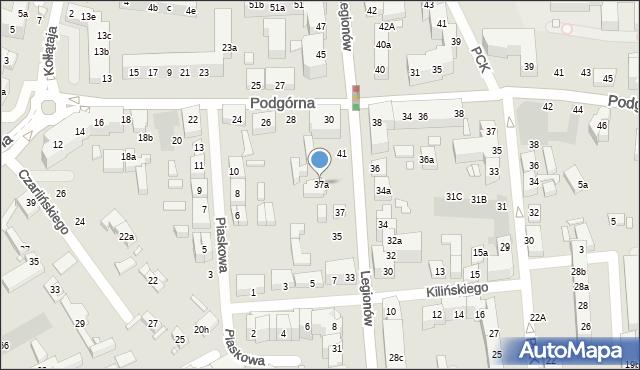 Toruń, Legionów, 37a, mapa Torunia