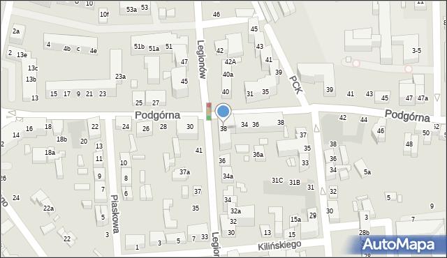 Toruń, Legionów, 38, mapa Torunia