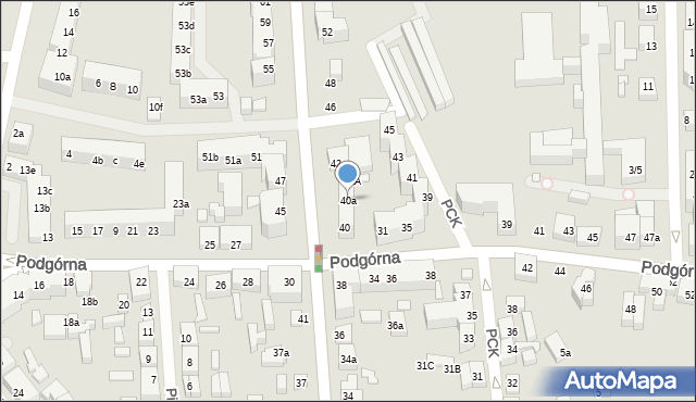Toruń, Legionów, 40a, mapa Torunia