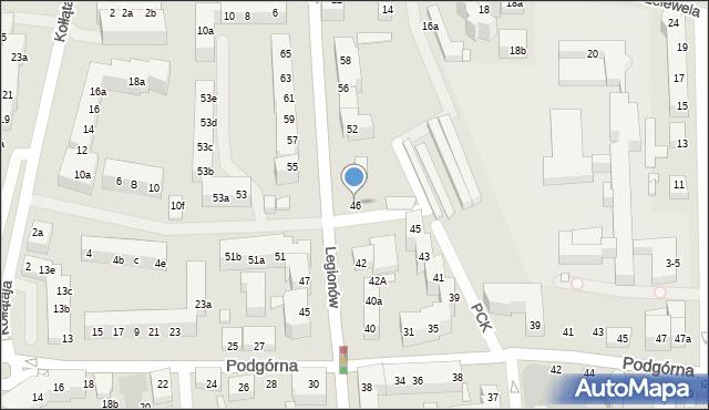 Toruń, Legionów, 46, mapa Torunia