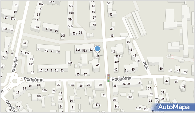 Toruń, Legionów, 47, mapa Torunia