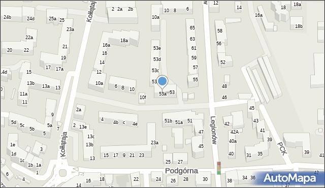 Toruń, Legionów, 53a, mapa Torunia