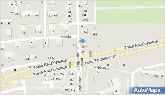 Toruń, Legionów, 82, mapa Torunia