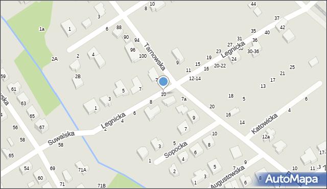 Toruń, Legnicka, 10, mapa Torunia