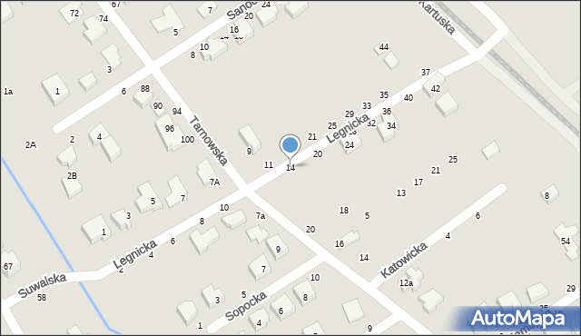 Toruń, Legnicka, 14, mapa Torunia
