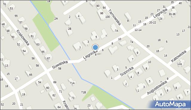 Toruń, Legnicka, 4, mapa Torunia