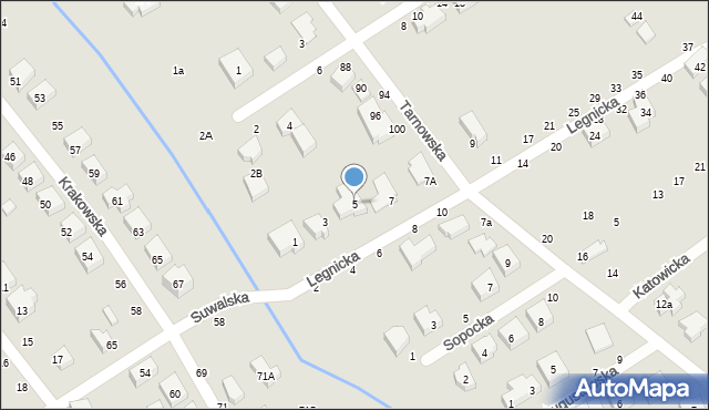 Toruń, Legnicka, 5, mapa Torunia