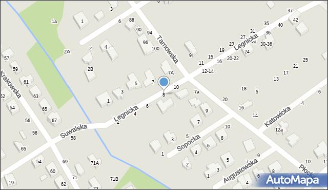 Toruń, Legnicka, 8, mapa Torunia