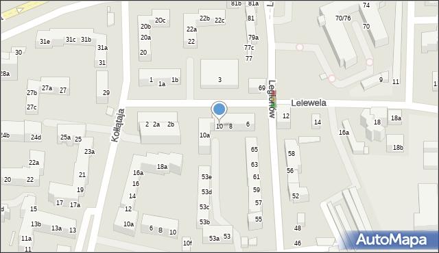 Toruń, Lelewela Joachima, 10, mapa Torunia