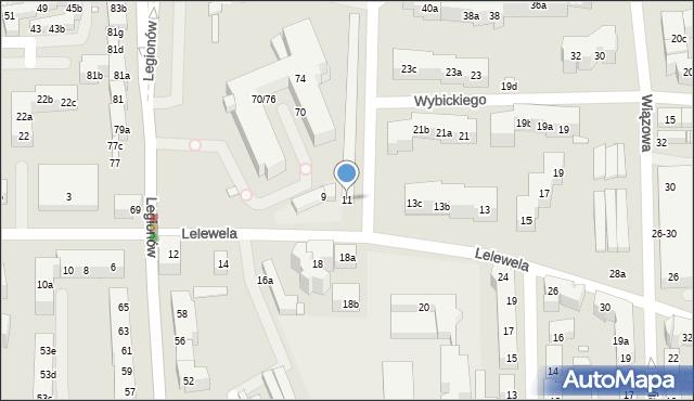 Toruń, Lelewela Joachima, 11, mapa Torunia