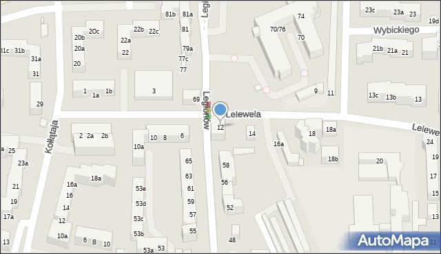 Toruń, Lelewela Joachima, 12, mapa Torunia