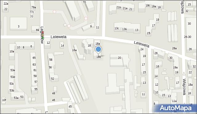 Toruń, Lelewela Joachima, 18b, mapa Torunia