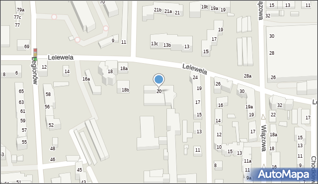Toruń, Lelewela Joachima, 20, mapa Torunia