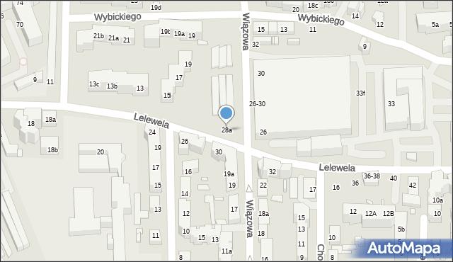 Toruń, Lelewela Joachima, 28a, mapa Torunia