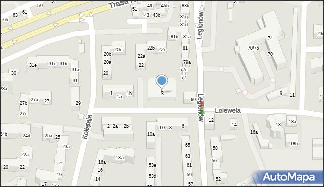 Toruń, Lelewela Joachima, 3, mapa Torunia