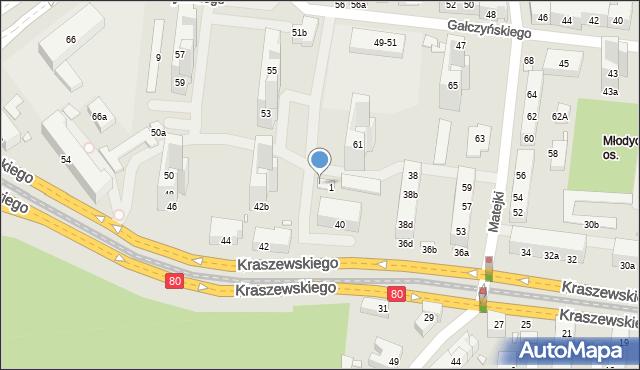 Toruń, Leśna, 10, mapa Torunia