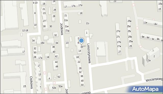 Toruń, Leszczynowa, 10, mapa Torunia