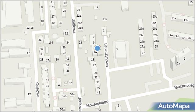 Toruń, Leszczynowa, 16, mapa Torunia