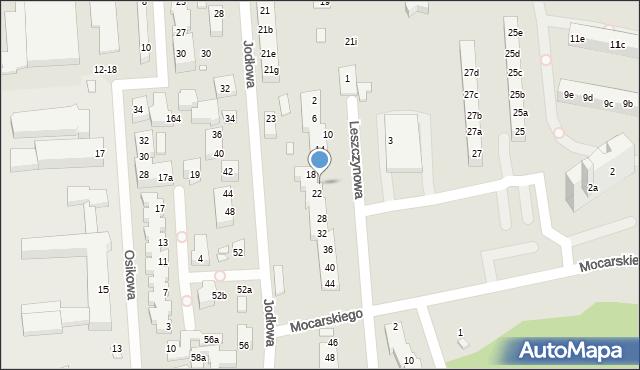 Toruń, Leszczynowa, 20, mapa Torunia