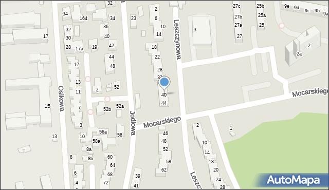 Toruń, Leszczynowa, 40, mapa Torunia