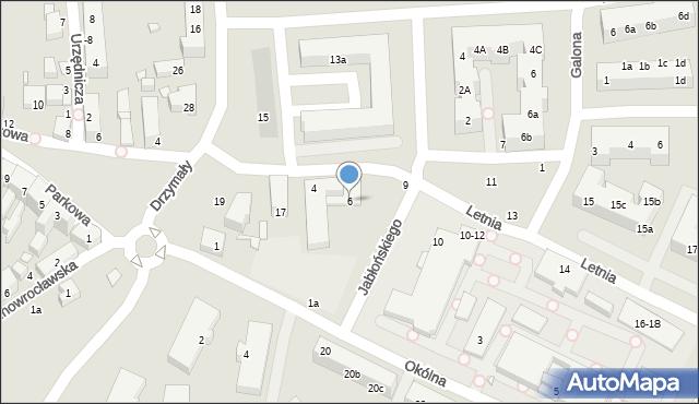 Toruń, Letnia, 6, mapa Torunia