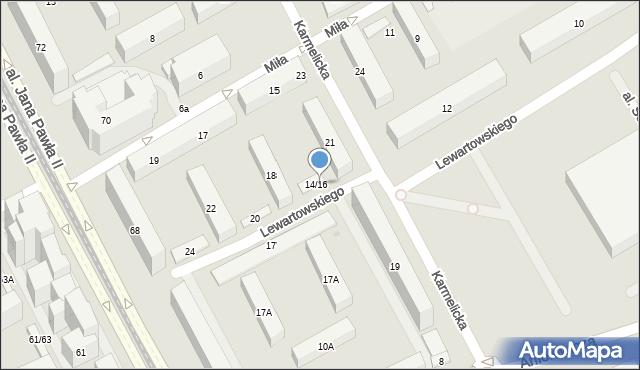 Warszawa, Lewartowskiego Józefa, 16, mapa Warszawy