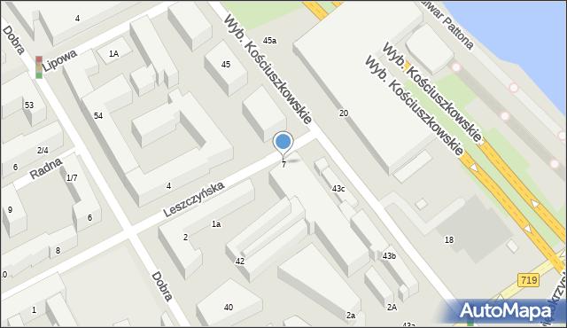 Warszawa, Leszczyńska, 7, mapa Warszawy