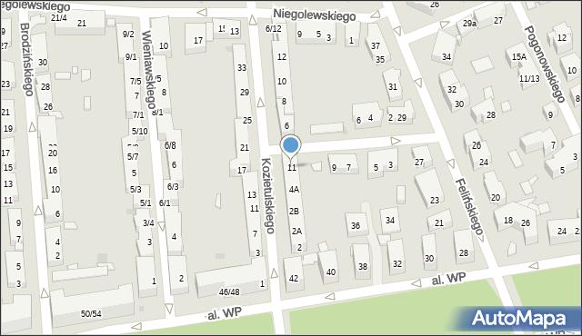 Warszawa, Lechonia Jana, 11, mapa Warszawy