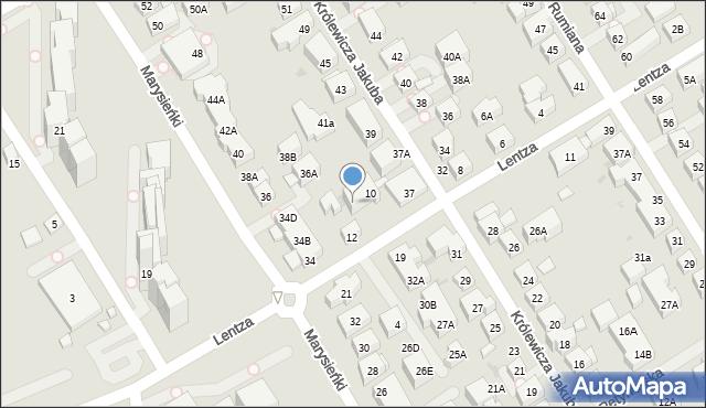 Warszawa, Lentza Stanisława, 10A, mapa Warszawy