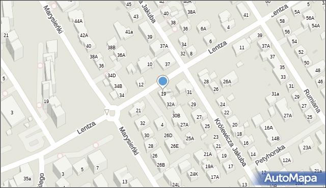 Warszawa, Lentza Stanisława, 19, mapa Warszawy