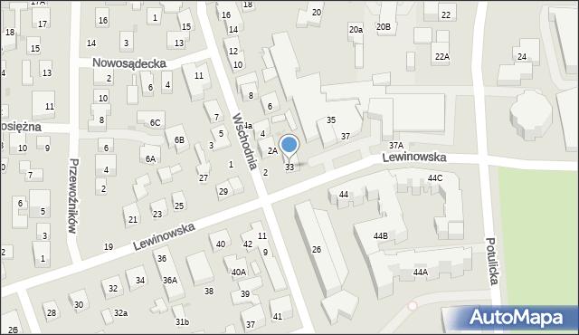 Warszawa, Lewinowska, 33, mapa Warszawy