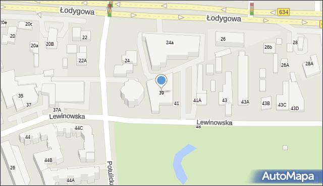 Warszawa, Lewinowska, 39, mapa Warszawy