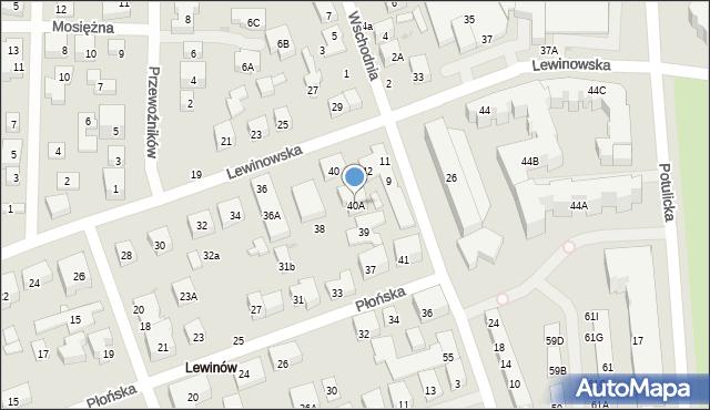 Warszawa, Lewinowska, 40A, mapa Warszawy