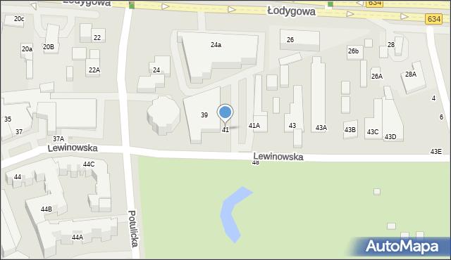 Warszawa, Lewinowska, 41, mapa Warszawy