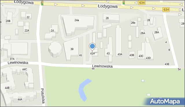 Warszawa, Lewinowska, 41A, mapa Warszawy