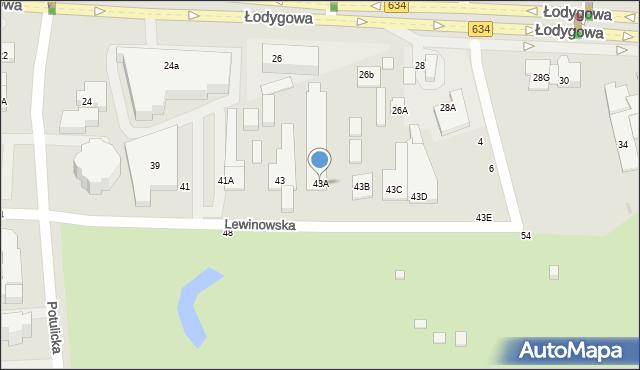 Warszawa, Lewinowska, 43A, mapa Warszawy