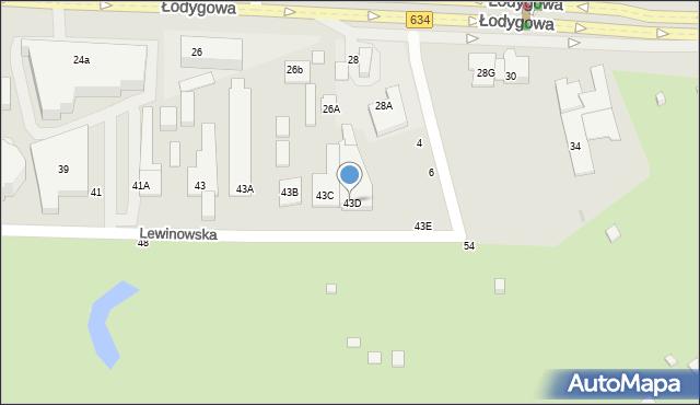 Warszawa, Lewinowska, 43D, mapa Warszawy