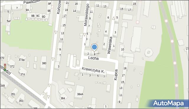 Zabrze, Lecha, 4, mapa Zabrza