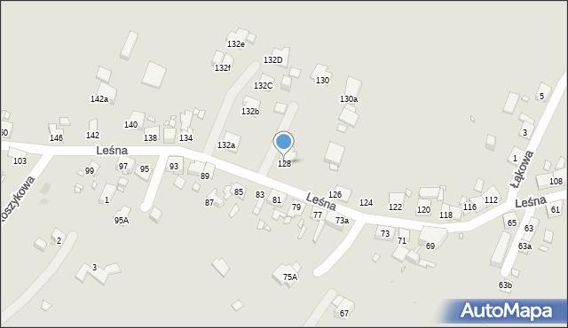 Zabrze, Leśna, 128, mapa Zabrza