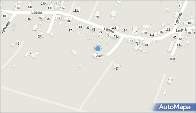 Zabrze, Leśna, 75A, mapa Zabrza