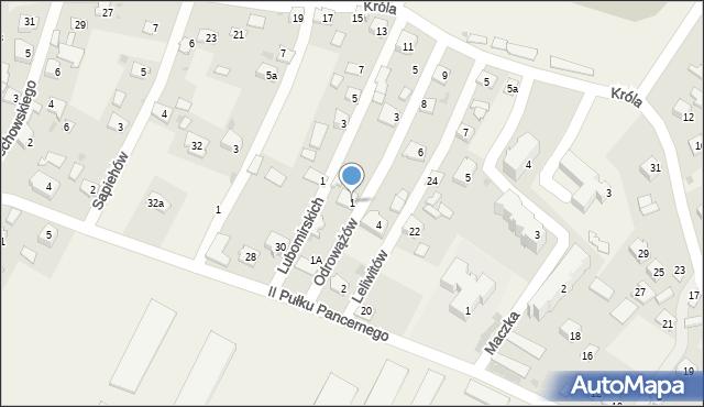 Żurawica, Leliwitów, 1, mapa Żurawica