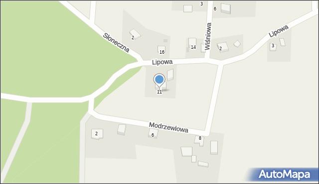 Barłomino, Lipowa, 11, mapa Barłomino