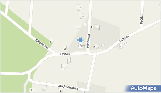 Barłomino, Lipowa, 14, mapa Barłomino