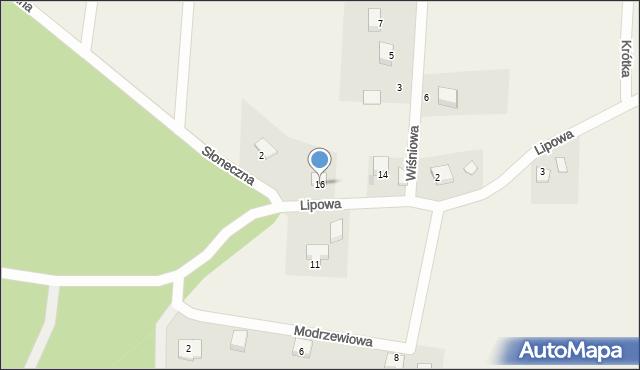 Barłomino, Lipowa, 16, mapa Barłomino